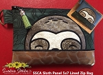SSCA Sloth Panel 5x7 Lined Zip Bag