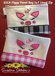 SSCA Piggy Panel 5x7 Lined Zip Bag