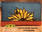SSCA Sunflower Panel 6x10 Lined Zip Bag