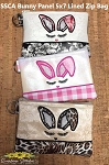 SSCA Bunny Panel 5x7 Lined Zip Bag