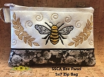 SSCA Bee Panel 5x7 Lined Zip Bag