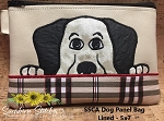 SCA Dog Panel 5x7 Lined Zip Bag