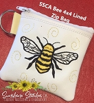 SSCA Bee 4x4 Zipper Bag Lined