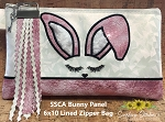 SSCA Bunny Panel 6x10 Lined Zip Bag