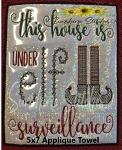 SSCA This House Dish Towel 5x7