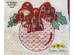 SSCA Holly 5x7 Applique Dish Towel