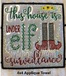 SSCA This House 4x4 Dish Towel
