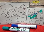 SSCA Airplane Color Book Pages 4x4 and 5x7