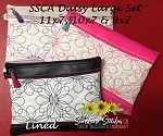 SSCA Daisy Zipper Bag  Lg Set (3 sizes)