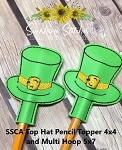 SSCA Top Hat Pencil Toppers  (4x4 and 5x7 Hoops 1 Size)