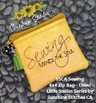 SSCA Sewing 4x4 Zipper Bag