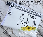 SSCA Horse Side Zipper Bag 8x6
