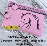 SSCA Horse Side Zipper Bag 5x7