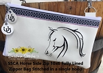 SSCA Horse Side Zipper Bag 10x6