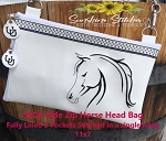 SSCA Horse Side Zipper Bag 11x7