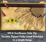 SSCA Sunflower Side Double Zipper Bag 11x7