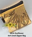 SSCA Sunflower 4x4 Zipper Bag Lined