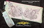 SSCA Small Paisley 5x11 Zipper Bag
